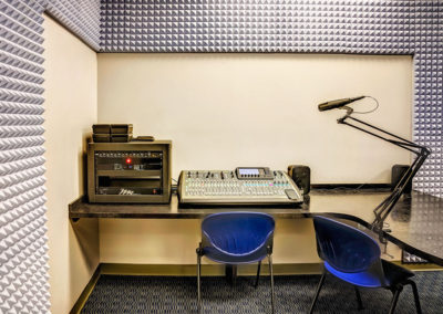 Studio Interview Room and Mixing Board