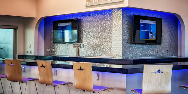 JetBlue Digital Signage Bar