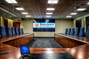 Suncoast Credit Union Audiovisual Upgrades to Executive Boardroom