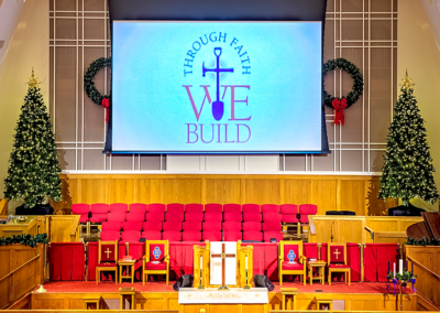 Church projection system and audio