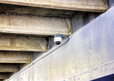 CCTV Dome Camera in Parking Garage
