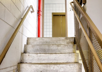 stairwell cameras within parking garage
