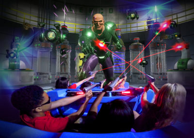 Six Flags Justice League Ride