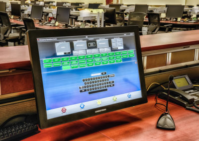 call center touch panel for emergency operations
