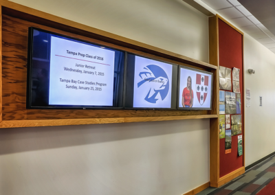 Digital Signage at Tampa Prep Private School