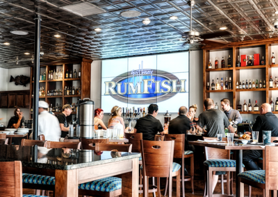 Video Wall and Background Music at RumFish