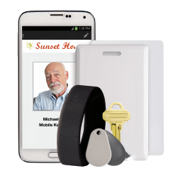 credentials for wireless locks with key cards and mobile app