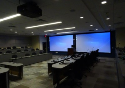 Government audio visual projection system and conference room