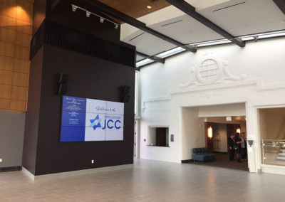 JCC video wall and audio video
