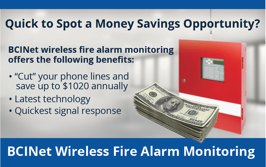 BCINet Wireless Fire Alarm Monitoring